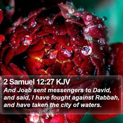 2 Samuel 12:27 KJV Bible Verse Image