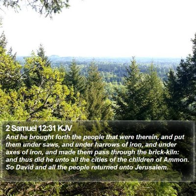 2 Samuel 12:31 KJV Bible Verse Image