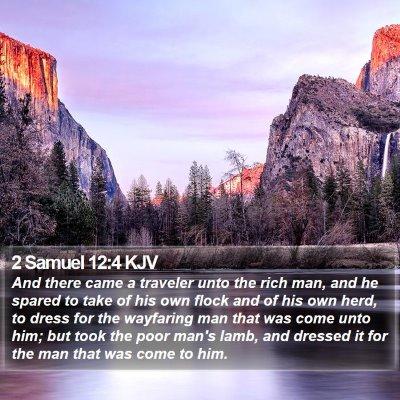 2 Samuel 12:4 KJV Bible Verse Image