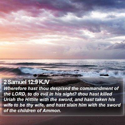 2 Samuel 12:9 KJV Bible Verse Image
