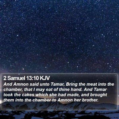2 Samuel 13:10 KJV Bible Verse Image