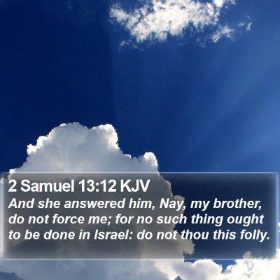 2 Samuel 13:12 KJV Bible Verse Image