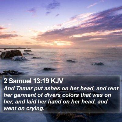 2 Samuel 13:19 KJV Bible Verse Image