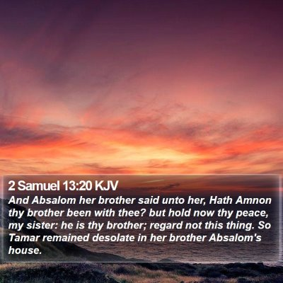 2 Samuel 13:20 KJV Bible Verse Image