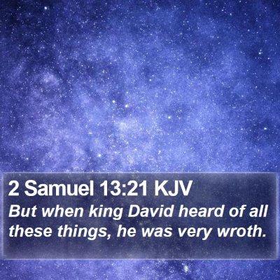 2 Samuel 13:21 KJV Bible Verse Image