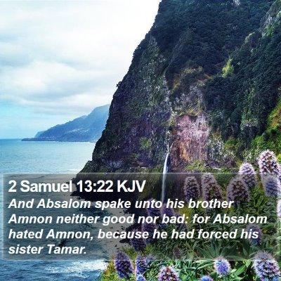2 Samuel 13:22 KJV Bible Verse Image