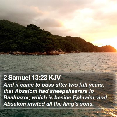 2 Samuel 13:23 KJV Bible Verse Image