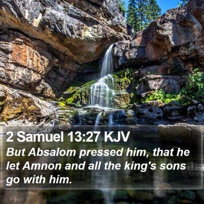 2 Samuel 13:27 KJV Bible Verse Image