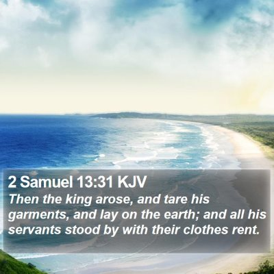 2 Samuel 13:31 KJV Bible Verse Image