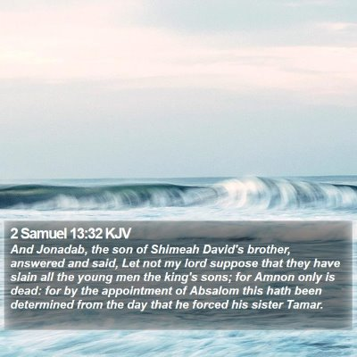 2 Samuel 13:32 KJV Bible Verse Image