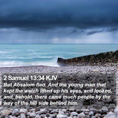 2 Samuel 13:34 KJV Bible Verse Image