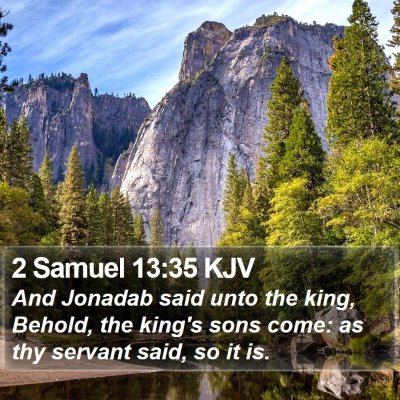 2 Samuel 13:35 KJV Bible Verse Image