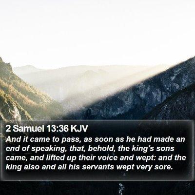 2 Samuel 13:36 KJV Bible Verse Image