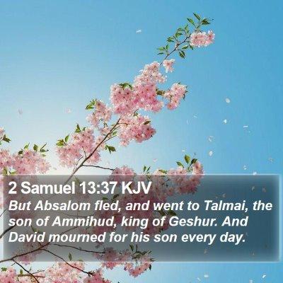 2 Samuel 13:37 KJV Bible Verse Image