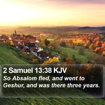 2 Samuel 13:38 KJV Bible Verse Image