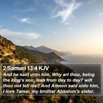 2 Samuel 13:4 KJV Bible Verse Image