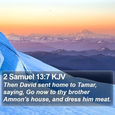 2 Samuel 13:7 KJV Bible Verse Image