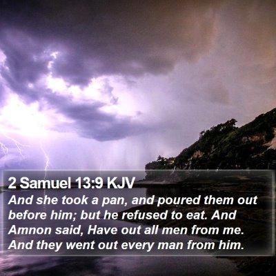 2 Samuel 13:9 KJV Bible Verse Image