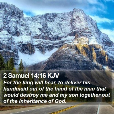 2 Samuel 14:16 KJV Bible Verse Image