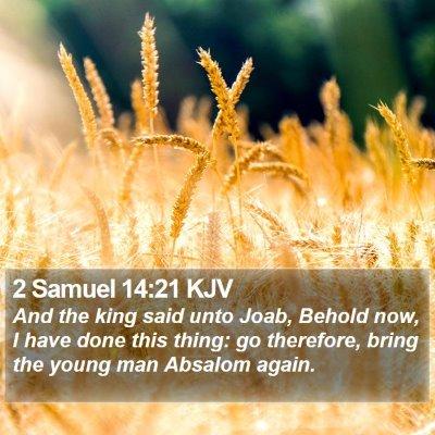 2 Samuel 14:21 KJV Bible Verse Image