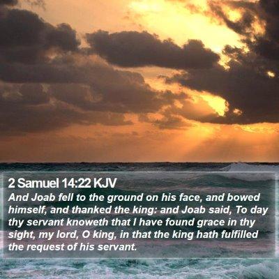 2 Samuel 14:22 KJV Bible Verse Image