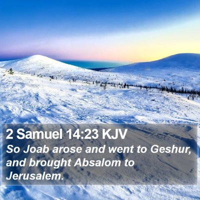2 Samuel 14:23 KJV Bible Verse Image