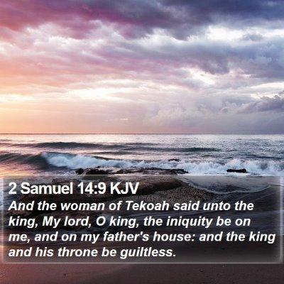 2 Samuel 14:9 KJV Bible Verse Image