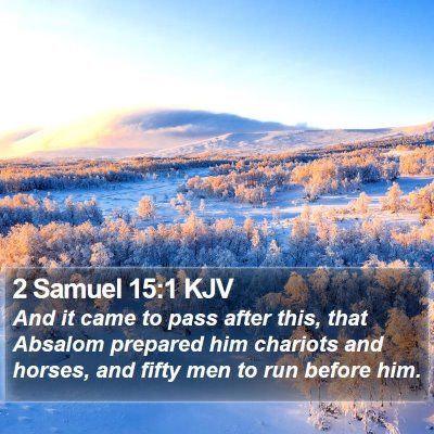 2 Samuel 15:1 KJV Bible Verse Image