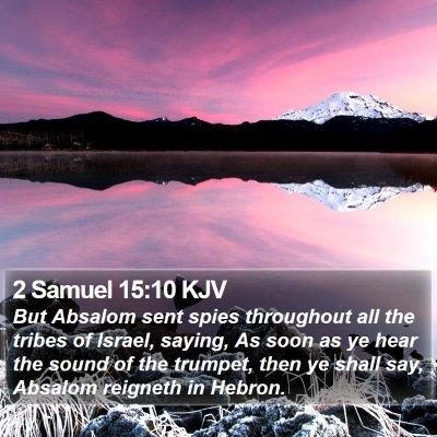 2 Samuel 15:10 KJV Bible Verse Image