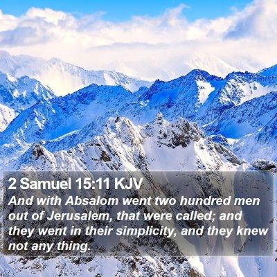 2 Samuel 15:11 KJV Bible Verse Image