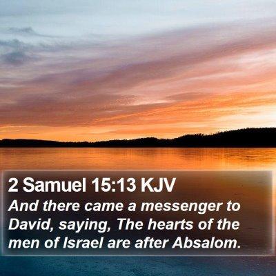 2 Samuel 15:13 KJV Bible Verse Image