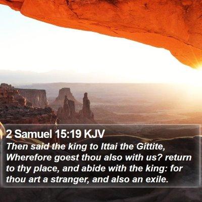 2 Samuel 15:19 KJV Bible Verse Image