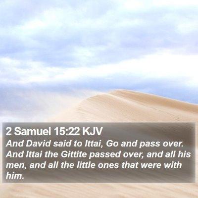 2 Samuel 15:22 KJV Bible Verse Image
