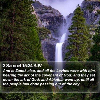 2 Samuel 15:24 KJV Bible Verse Image