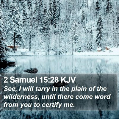 2 Samuel 15:28 KJV Bible Verse Image