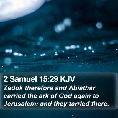 2 Samuel 15:29 KJV Bible Verse Image