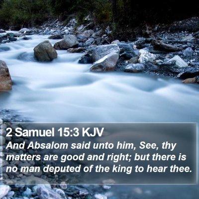 2 Samuel 15:3 KJV Bible Verse Image