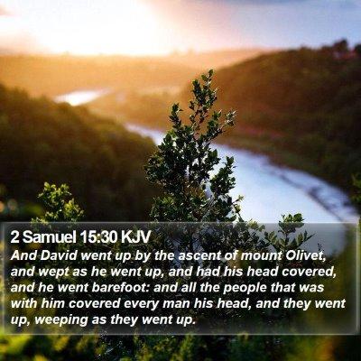 2 Samuel 15:30 KJV Bible Verse Image