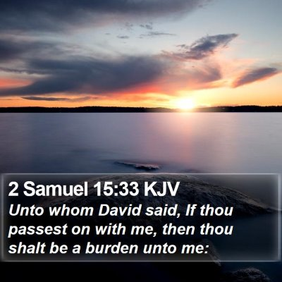 2 Samuel 15:33 KJV Bible Verse Image