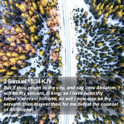 2 Samuel 15:34 KJV Bible Verse Image