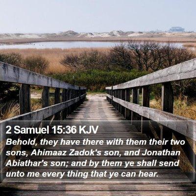 2 Samuel 15:36 KJV Bible Verse Image