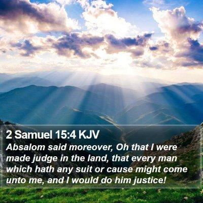 2 Samuel 15:4 KJV Bible Verse Image