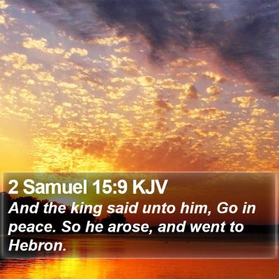 2 Samuel 15:9 KJV Bible Verse Image