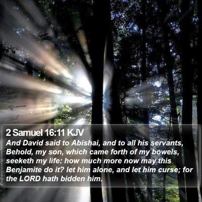2 Samuel 16:11 KJV Bible Verse Image