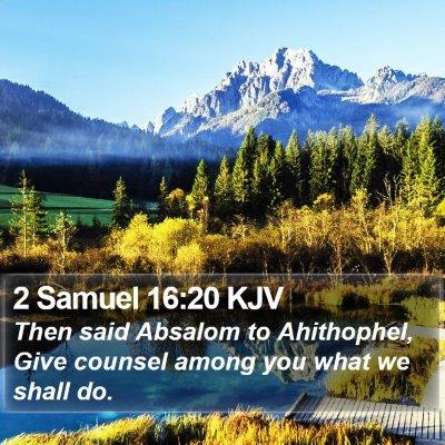 2 Samuel 16:20 KJV Bible Verse Image
