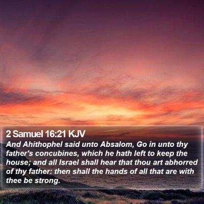 2 Samuel 16:21 KJV Bible Verse Image