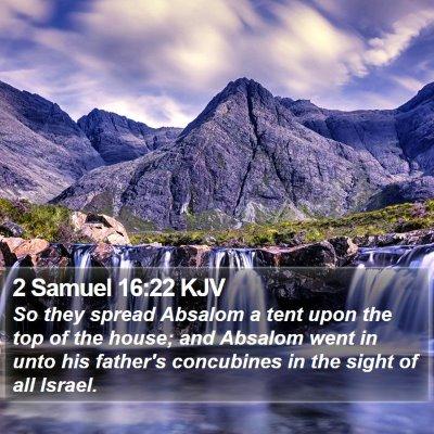 2 Samuel 16:22 KJV Bible Verse Image