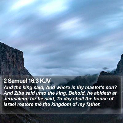 2 Samuel 16:3 KJV Bible Verse Image