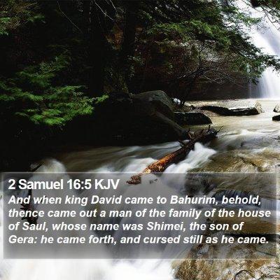 2 Samuel 16:5 KJV Bible Verse Image