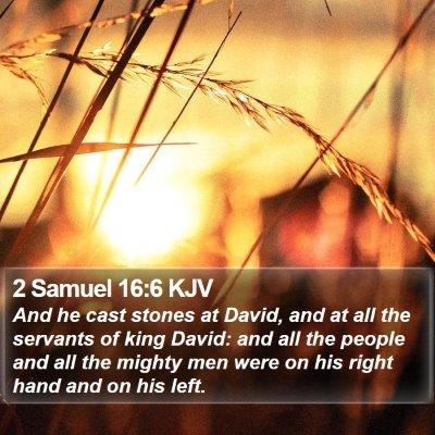 2 Samuel 16:6 KJV Bible Verse Image